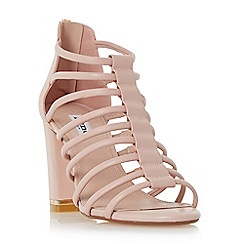 Dune - Light pink 'Maybells' metal plated block heel sandal