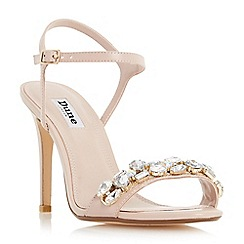Dune - Light pink 'Mya' jewel embellished high heel sandal