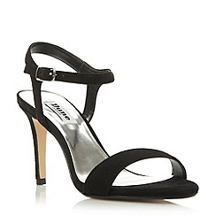 Dune - Black two part mid heel sandal