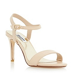 Dune - Neutral two part mid heel sandal