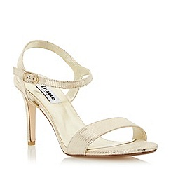 Dune - Metallic two part mid heel sandal