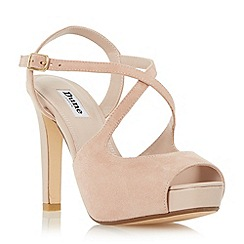 Dune - Light pink 'Merry' peep toe cross strap high heel sandal