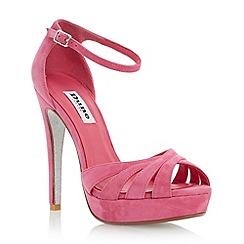 Dune - Pink glitter sole platform sandal