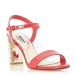 Dune - Pink jewelled block heel sandal