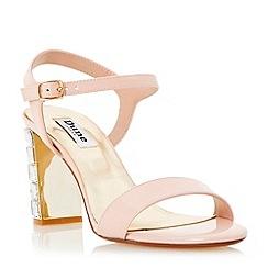 Dune - Pink jewelled block heel sandal