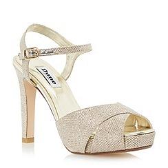 Dune - Metallic crossover strap high heel sandal