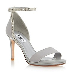 Dune - Grey studded two part mid heel sandal