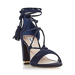 Dune - Navy 'Margo' ghillie lace up block heel sandal