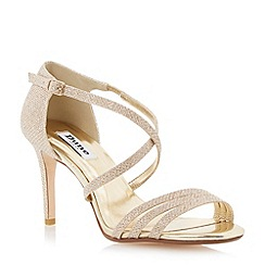 Dune - Champagne lurex strappy heeled sandal