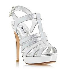 Dune - Silver 'Marbaya' high heel platform sandal