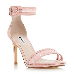 Dune - Light pink 'Maisi' lace two part high heel sandal