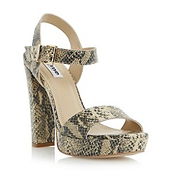 Dune - Neutral two part platform sandal