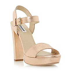 Dune - Metallic two part platform sandal