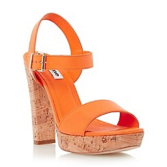 Dune - Bright cork platform leather sandal