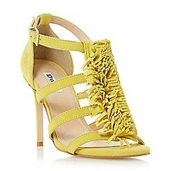 Dune - Yellow 'Milano' tassel fringe detail sandal