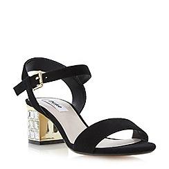 Dune - Black jewelled block heel sandal