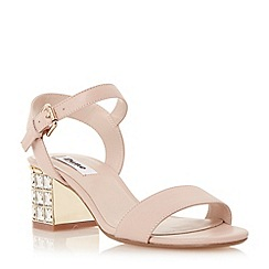 Dune - Neutral jewelled block heel sandal