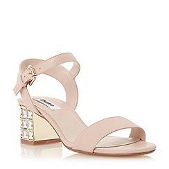 Dune - Neutral jewelled block heel sandal