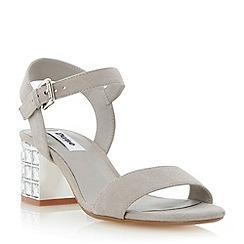 Dune - Grey jewelled block heel sandal