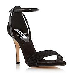 Dune - Black two part mid heel sandal