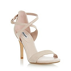 Dune - Natural 'Madeleine' strappy cross strap heeled  sandal