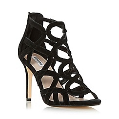 Dune - Black 'Maida' loop detail caged high heel sandal