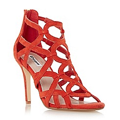 Dune - Orange 'Maida' loop detail caged high heel sandal
