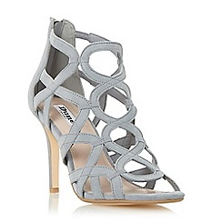 Dune - Grey 'Maida' loop detail caged high heel sandal