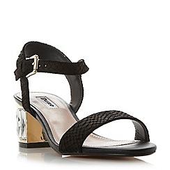 Dune - Orange 'Marcia' jewelled block heel sandal