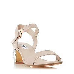 Dune - Orange 'Marcia' jewelled block heel sandal