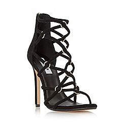 Dune - Black 'Memphiss' strappy hoop detail high heel sandal
