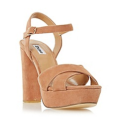 Dune - Tan 'Mexico' cross strap platform sandal