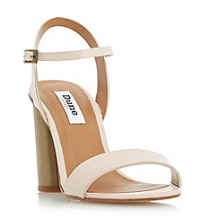 Dune - Natural 'Matylda' two part round heel sandal