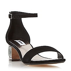 Dune - Black jewelled block heel sandal