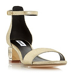 Dune - Metallic jewelled block heel sandal