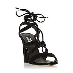 Dune - Black 'Marlow' ghillie lace block heel sandal