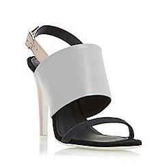 Dune - Multicoloured 'Memo' white outsole high heel sandal