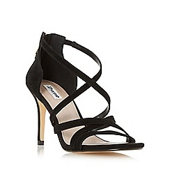 Dune - Black 'Malibu' cross strap high heel sandal