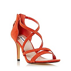 Dune - Orange 'Malibu' cross strap high heel sandal