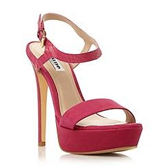 Dune - Pink two part platform high heel sandal