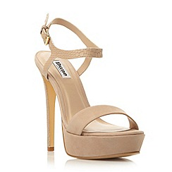 Dune - Neutral two part platform high heel sandal