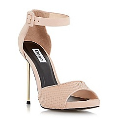 Dune - Neutral two part metal heel sandal