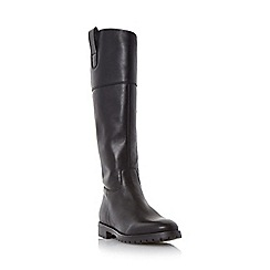 Dune - Black 'Timi' side tab leather riding boot