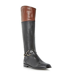Dune - Multi metal stirrup detail leather riding boot