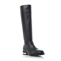 Dune - Black 'Taite' metal heel detail knee high boot