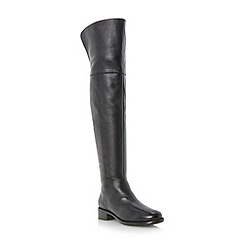 Dune - Black collar detail over the knee leather boot