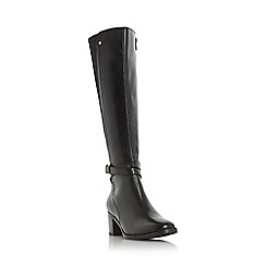 Dune - Black 'Vivv' stretch back knee high boot