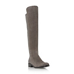 Dune - Grey 'Trish' pull on over the knee boot