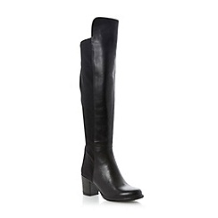Dune - Black stretch panel block heel over the knee boot