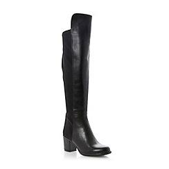 Dune - Black stretch panel block heel over the knee boot